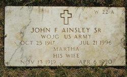 John F Ainsley, Sr
