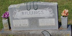 Betty J. <I>Ward</I> Billings