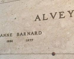 Anna Louise <I>Barnard</I> Alvey