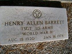 Sgt Henry Allen Barrett