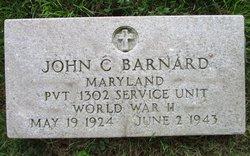Pvt John C Barnard