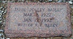 """Janie """"Sudie"""" <I>Jolley</I> Bailey"""