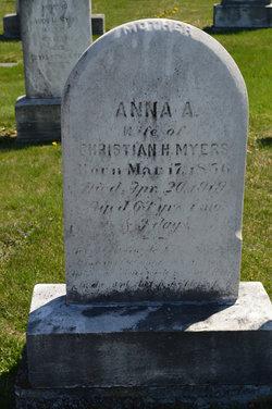 Anna A <I>Sheetz</I> Myers