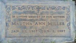 Martha Ann <I>Sloan</I> Miller