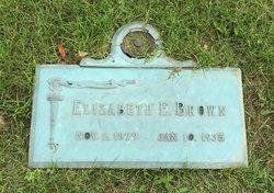 Elizabeth E <I>Fisher</I> Brown