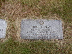 2LT Burt C Gay