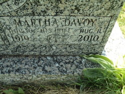 Martha <I>Davoy</I> Buckingham