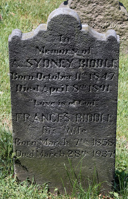 "Frances Brown ""Fanny"" <I>Robinson</I> Biddle"