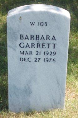 Barbara <I>Groetzer</I> Garrett