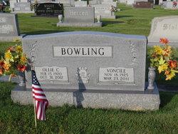 Voncile <I>Moore</I> Bowling