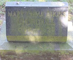 Mary Emma <I>Atkins</I> Churchill