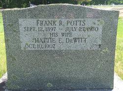 Hattie Ella <I>Dewitt</I> Potts