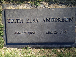 Edith Elsa <I>Eberle</I> Anderson