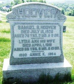 Lydia Ann <I>Wentz</I> Hoover