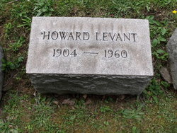 """Dr Howard """"Honey"""" Levant"""