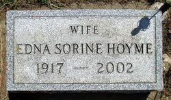 Edna Sorine <I>Jorgensen</I> Hoyme