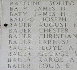 1Lt August F Bauer, Jr