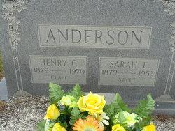 "Sarah Elizabeth ""Sallie"" <I>Clark</I> Anderson"