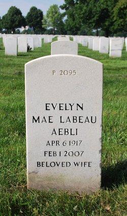 Evelyn Mae <I>LeBeau</I> Aebli