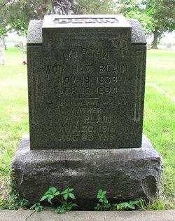 Martha Eliza <I>Wortham</I> Blain