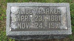 Alice V <I>Monroe</I> Parker