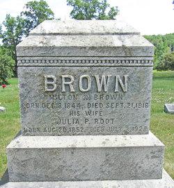 Julia P. <I>Root</I> Brown