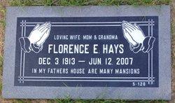 Florence Elizabeth <I>McCall</I> Hays