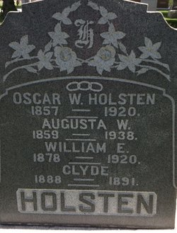 Augusta W <I>Johnson</I> Holsten