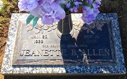 Jeanette B. <I>McCartney</I> Allen