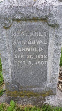 Margaret Ann <I>Thompson</I> Duval Arnold