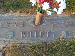 Anna Marie <I>Dickson</I> Billett