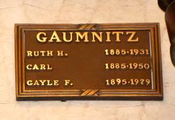Ruth Wilkinson <I>Hartzell</I> Gaumnitz