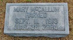 Mary Gertrude <I>McCallum</I> Harned