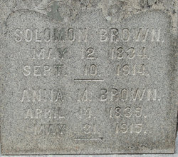 Anna Mary <I>Zinn</I> Brown