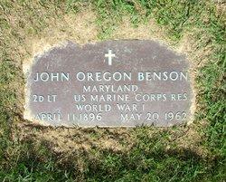 John Oregon Benson