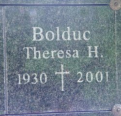 Theresa H <I>Lagasse</I> Bolduc