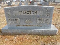 Mary Modean <I>Croy</I> Thaxton