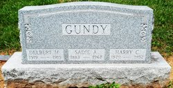 Sadie A <I>Gross</I> Gundy