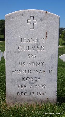 Jesse T Culver