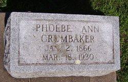 Phoebe Ann <I>Miles</I> Crumbaker