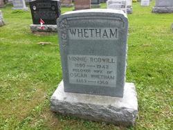 Minnie <I>Rodwill</I> Whetham