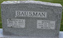 "Wilhelmina ""Minnie"" <I>Benz</I> Bausman"