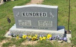 Mary Alice <I>Staab</I> Kundred