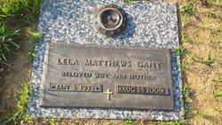 Lela Mae <I>Matthews</I> Gant