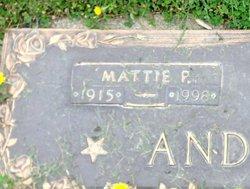 Mattie P <I>Prentice</I> Anderson