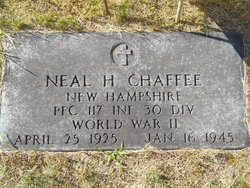 PFC Neal H Chaffee