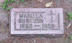 Marilla <I>Mapes</I> Burgoon