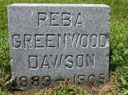 """Rebecca """"Reba"""" <I>Greenwood</I> Dawson"""