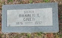 Mahalie Elizabeth Given