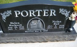 "Nolan ""Bud"" Porter"
